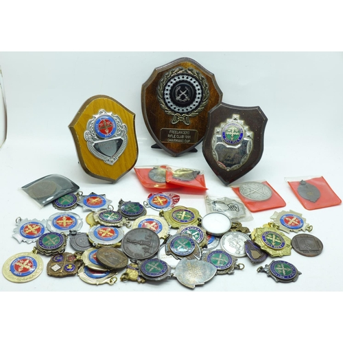 655 - Shooting medals and medallions...