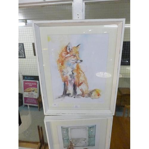 1315 - A Jennifer Rose print, Handsome Fox, 40cm x 50cm (PPFPPR43747G21)   #...