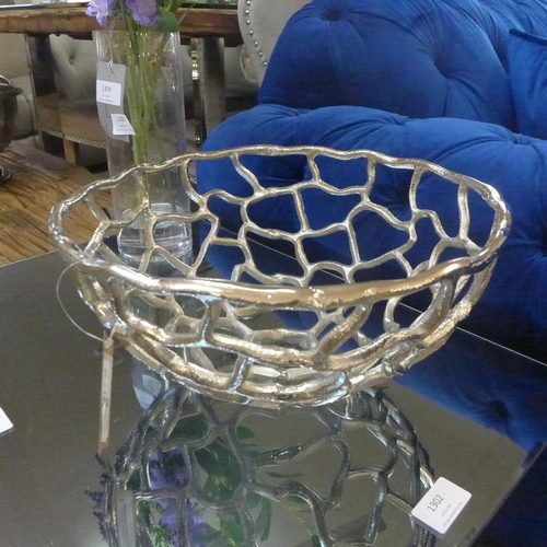 1327 - An Ohlson silver perforated coral inspired bowl (2066312)   #...