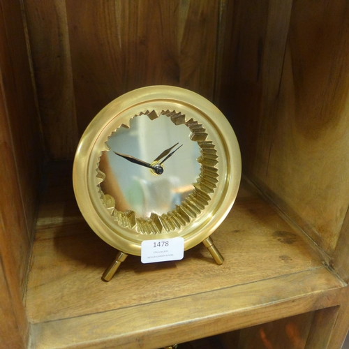 1403 - A brass table clock (7519720)   #...
