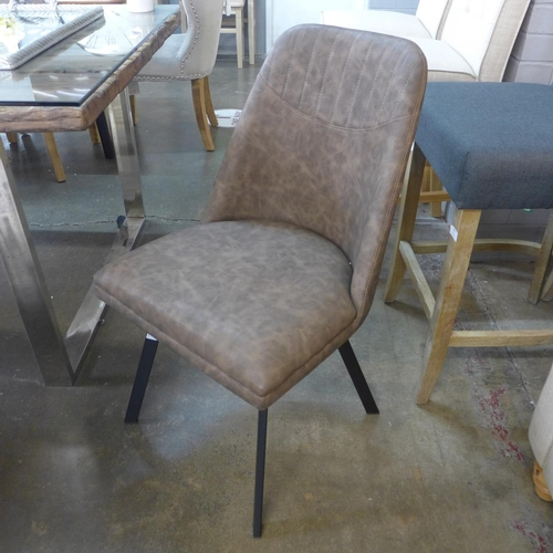 1442 - A set of four dark brown Jaden dining chairs...
