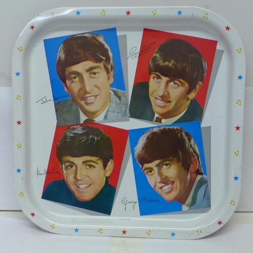 608 - A Beatles tray...
