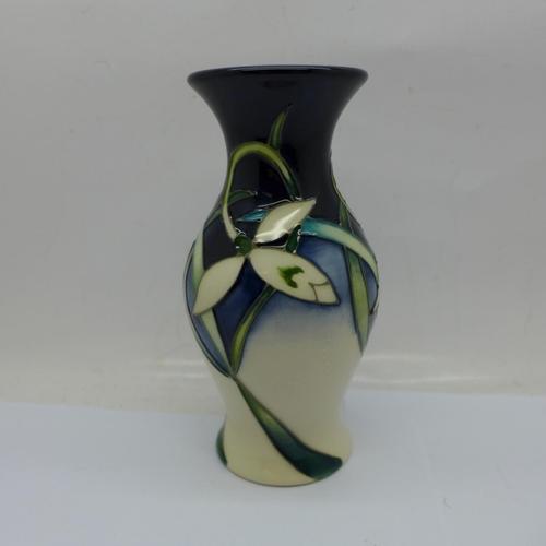609 - A Moorcroft Pottery vase, Twenty Winters pattern, designed by Nicola Slaney, 226/5, impressed and pa...