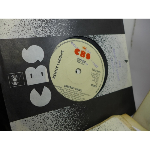 669 - A collection of 7'' singles including Billy Joel, Stevie Wonder, Diana Ross, Neil Diamond, James Tay...