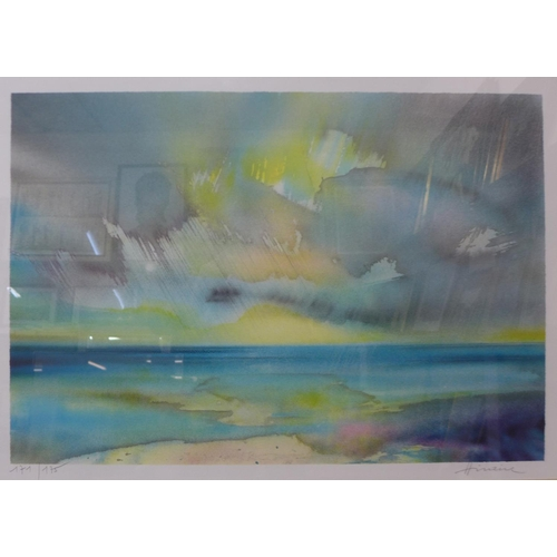 24 - A pair of Camille Hilaire signed limited edition prints, 43cms x 63cms and 48cms x 67cms, framed...