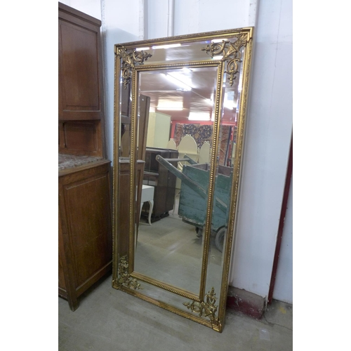 32a - A large French style gilt framed mirror, 183 x 92cms   (M33138)   #...