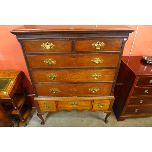 44 - A George III mahogany chest on stand...