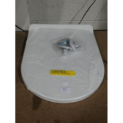 3025 - An Alarins D-shaped soft close toilet seat * This lot is subject to VAT...