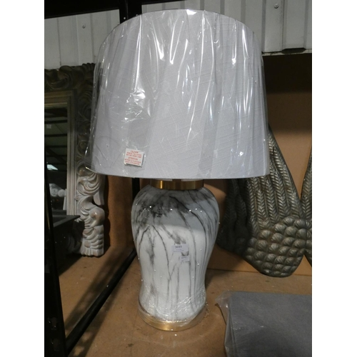 3035 - A Prosper marble effect table lamp * This lot is subject to VAT...