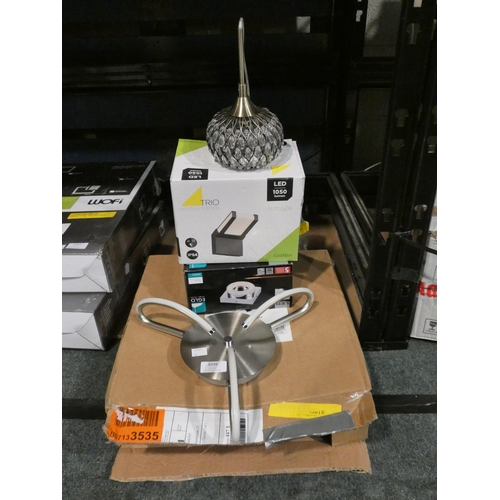 3036 - Four mixed lighting units (indoor/outdoor) * This lot is subject to VAT...