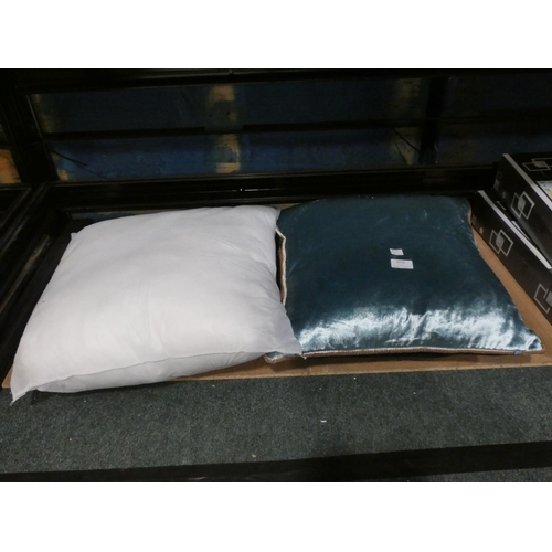 3038 - Two cushions (one without cover) * This lot is subject to VAT...