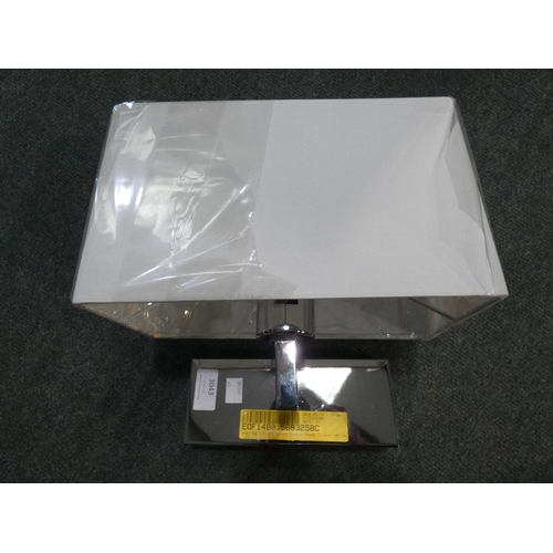 3043 - A Wotring chrome finish 1-light wall light with shade * This lot is subject to VAT...