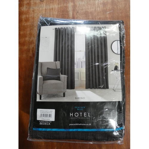 3058 - A Hotel Barcelo lined curtain set (W 90