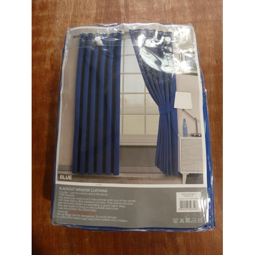 3059 - An Imperial Rooms blue curtain set (W 117cm x D 137cm) * This lot is subject to VAT...