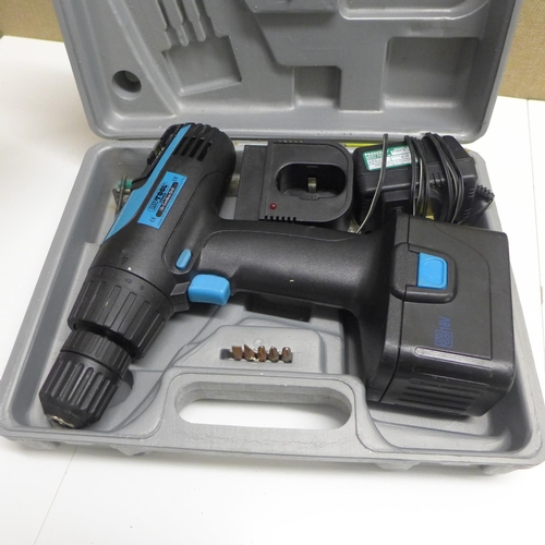 2006 - Nutool 18v drill with battery & charger in case - W...