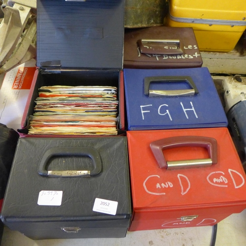 2052 - 6 Cases of 45rpm single records - some not in sleeves...