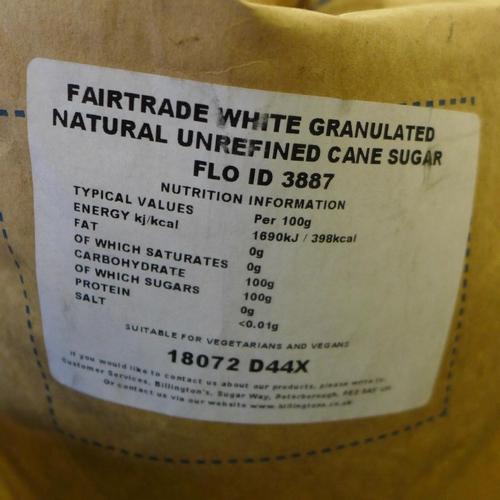 2056 - Billingtons Unrefined Cane Sugar sack 25kg  *This lot is subject to VAT...