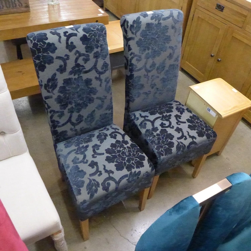 1394 - A pair of Prussian blue side chairs * This lot is subject to VAT...