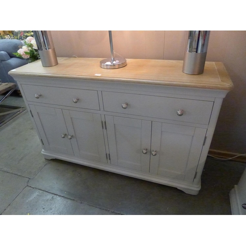 1409 - An Ashbourne grey painted four door extra large sideboard (BRI-BF04) * This lot is subject to VAT Ma...