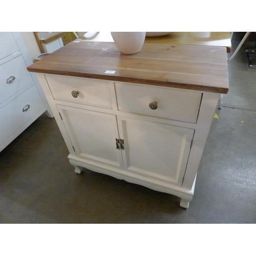 1417 - A Farmhouse style two door sideboard * This lot is subject to VAT...