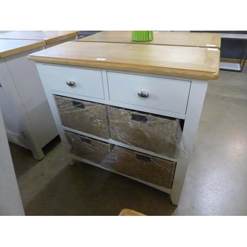 1447 - A Gloucester white painted oak two drawer, four basket cabinet (GA-C24-W) * This lot is subject to V...