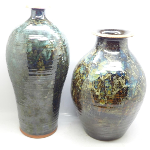 623 - Edward Campden (1931-2020), four stoneware vases, dated 1987, 1990 and two x 2000...