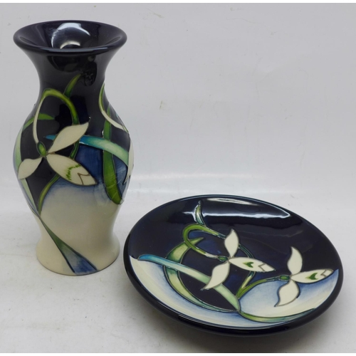 640 - A Moorcroft Pottery vase, painted in the Twenty Winters pattern, designed by Nicola Slaney, shape no...