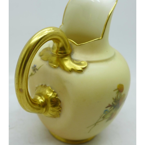 643 - A Royal Worcester jug, 1094 mark, 12cm...