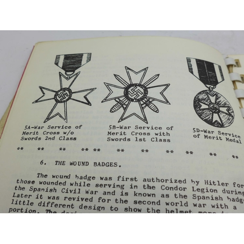 650 - Military books: German ranks and uniforms, Nazi daggers, swords and bayonets, Nazi medals and German...