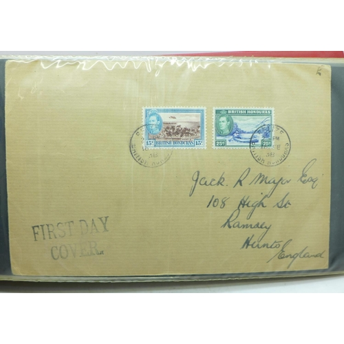 666 - Stamps; King George VI postal history and first day covers in album (50 covers)...