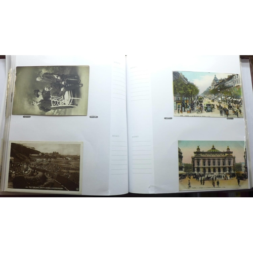 667 - An album of Edwardian and later postcards (140)...