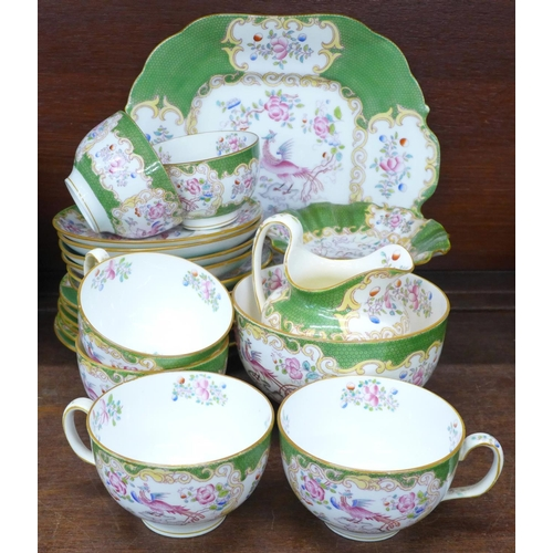 705 - A Minton six setting tea service and a comport...