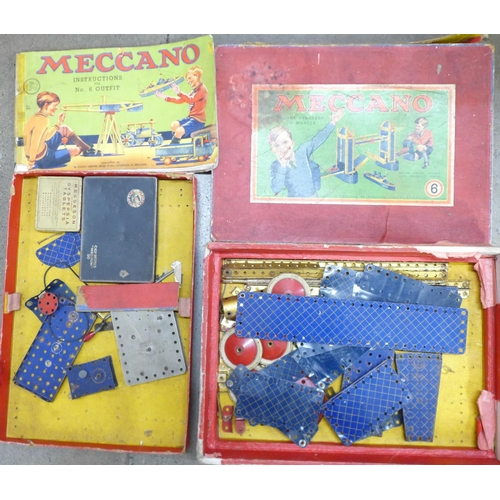 636 - A Meccano No.6 outfit, box a/f, not complete...