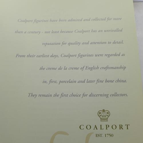 637 - Five Coalport figures and a Coalport brochure