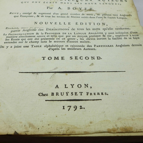 644 - An English-French dictionary, 1792, a/f...