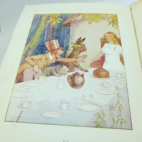 647 - One volume, Alice's Adventures in Wonderland, with 48 coloured plates, 1922