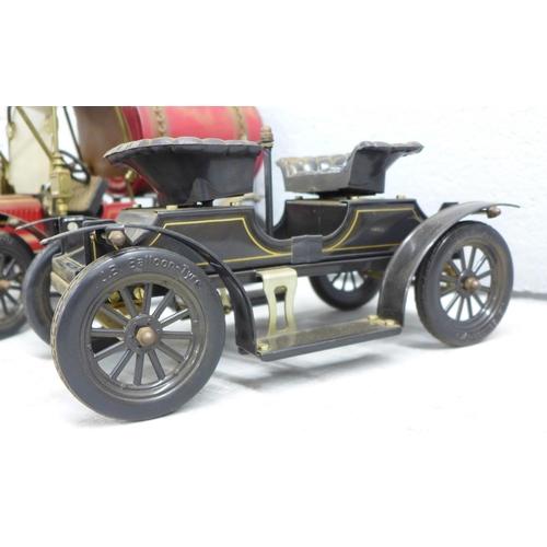 660 - Three Jan Blenken steel vintage motor vehicles...