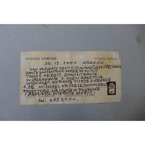 14 - Antoni Gornik, Krakow, oil on board, 28 x 19cms, framed...