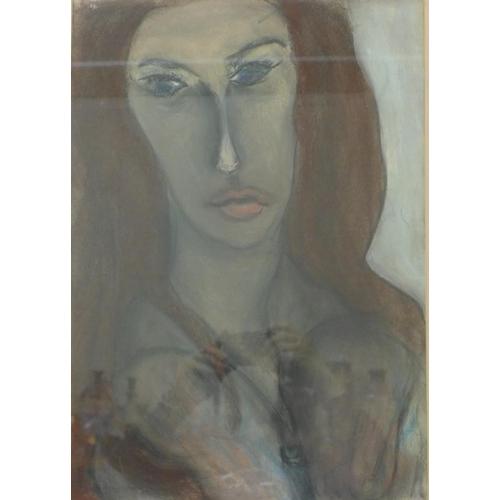 26 - Simon Turnbull, Veronica, pastel, 50 x 35cms, framed, 1969 Royal Academy exhibition label verso...