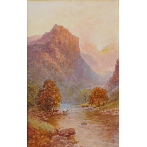 27 - D.K. Ruddock, pair of landscapes, River Lledr, North Wales, watercolour, dated 1927, 46 x 29cms, fra...
