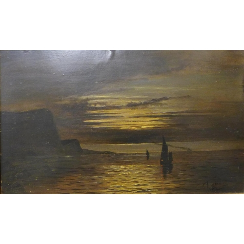 29 - * Siegel, figures in a town, oil on canvas, 50 x 40cms and two other continental oil paintings, rura...