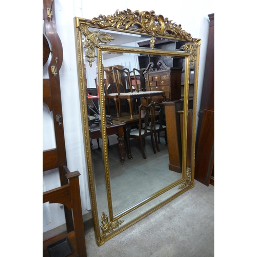 55a - A large French style gilt framed mirror, 192cms h x 136cms w    (M24202)   #...