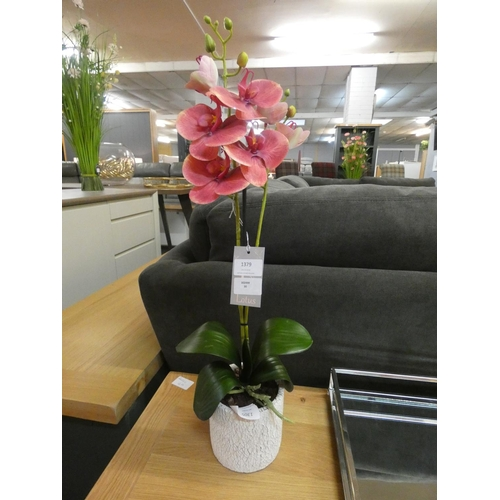 1346 - An artificial pink orchid in a ceramic pot (59438006)   #...