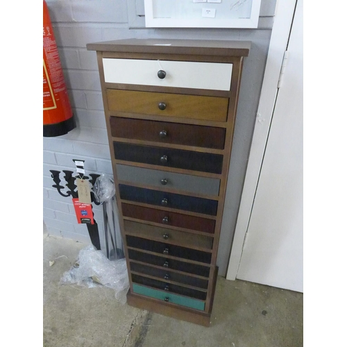 1372 - A multicoloured thirteen drawer chest (760973)   #...