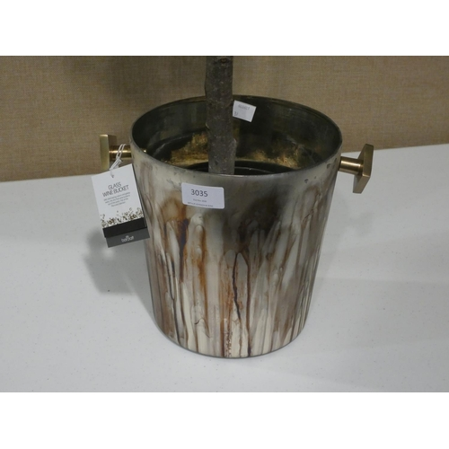 3035 - An artificial plant in glass wine bucket planter (approx. H 3ft) * this lot is subject to VAT
