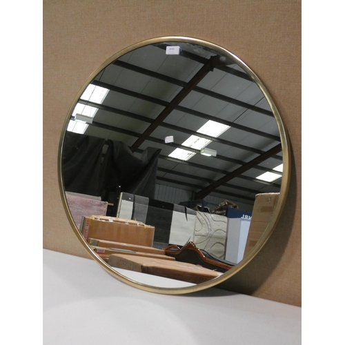 3040 - A large gilt effect circular mirror (D72cm) * this lot is subject to VAT...