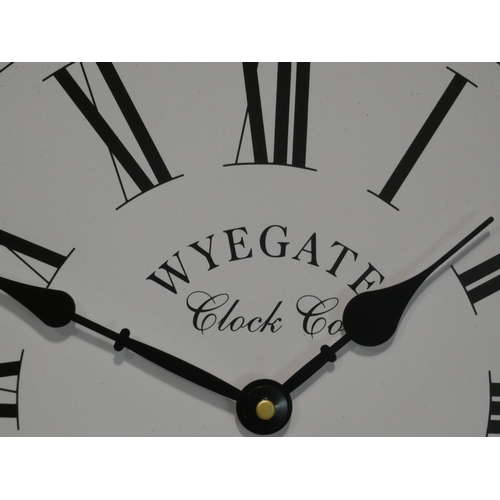3043 - A circular Wye Gate Clock Co. wall clock (Dia 35cm) * this lot is subject to VAT...