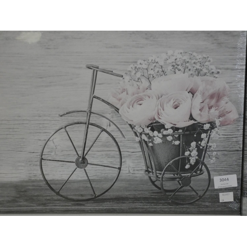 3044 - A four piece print on canvas set (2 x 32 x 32cm & 2 x 42 x 32cm) * this lot is subject to VAT...