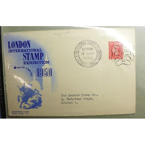 An album of stamp exhibition covers, etc.