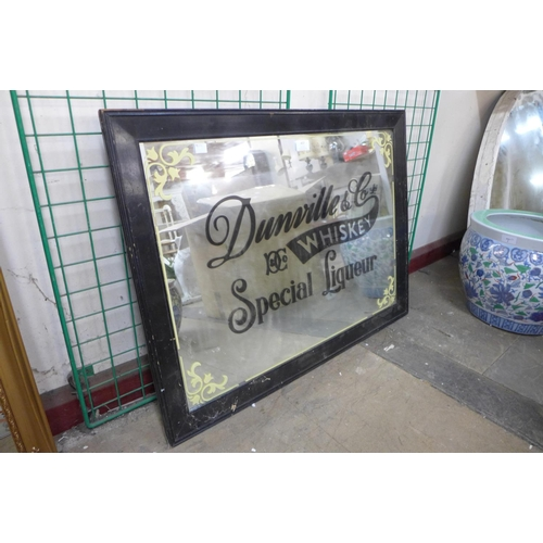 A Dunville & Co. Whiskey Special Liqueur advertising mirror